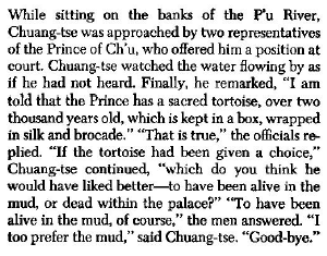 an incident in the life of Chuang-tse.