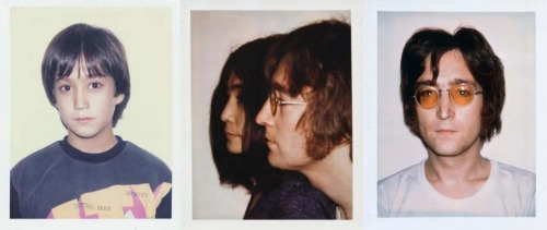pretty-vacant:  Polaroids of Yoko Ono, Sean & John Lennon by Andy Warhol