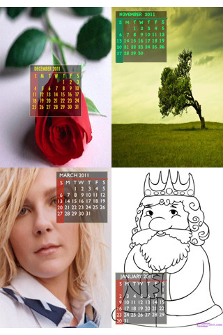 Wonderful Calendar Images from Photo Calendar for iPhone