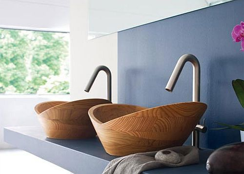 Modern Bathrooms : Wood Bathroom Fixtures from Francoceccotti