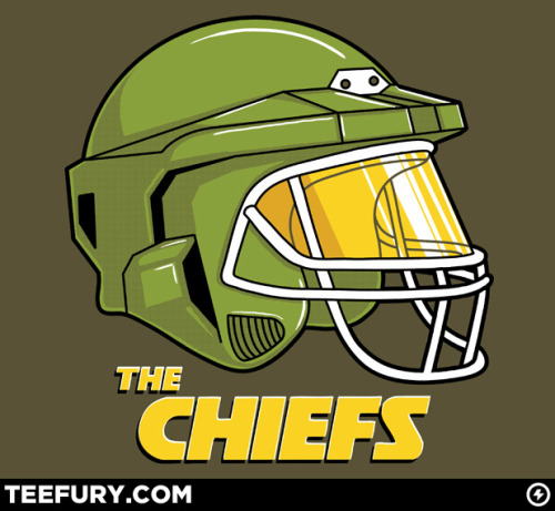 The Football / Halo mash up shirt design by Steven Lefcourt is now coming to TeeFury. Buy it up Friday (01/07) for only $9! Related Rampages: The Chiefs | Dr. Swiss | Onomato-t-shirt The Chiefs by Steven Lefcourt / Ste7en (Flickr) (Twitter) Via: teevil