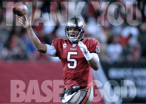 I'm sure Josh Freeman saved a lot of fantasy football squads during a tumultuous championship round.  And for that… Thank You Based God.
