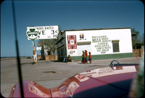 unknown, Arizona, ca. 1950s The best way to mark the last day of Kodachrome is not to lament that we are getting our final rolls developed (I'm waiting on my last 20), but to anticipate the thousands of great Kodachrome photographs waiting to be discovered. As is often mentioned, the film has a great shelf life; many of us have had the experience of finding a shoe box of family slides, holding them up to the light and seeing fifty-year-old colors pop out like magic. There are millions of exposures that haven't been seen in decades and hundreds of great unknown photographers hiding in those shoe boxes. All you need is patience and a scanner. Where to see some vernacular Kodachrome? Start with Electrospark's collection of found slides. The Charles W. Cushman archive offers 14,500 Kodachrome slides shot by an amateur photographer. Superbomba also has a great selection of found Kodachromes (and more). Goldengreyblue has a relative from the past who had a great eye, as seen in this set.