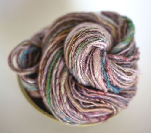 Blushing Plum single ply handspun yarn by MagnoliaHandspun on Etsy