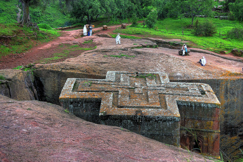 worldheritagesites:  St George's Church, Rock Hewn Churches, Lalibela - Ethiopia