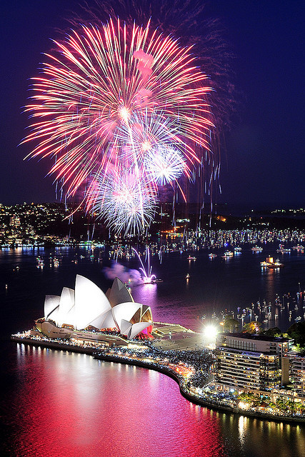 Happy New Year from the Sydney Opera House - Australia