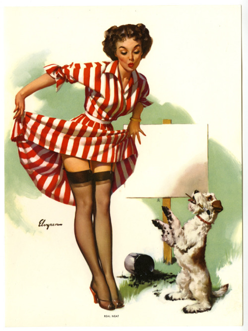 "vintagegal:  ""Real Neat"" art by Gil Elvgren 1950's"