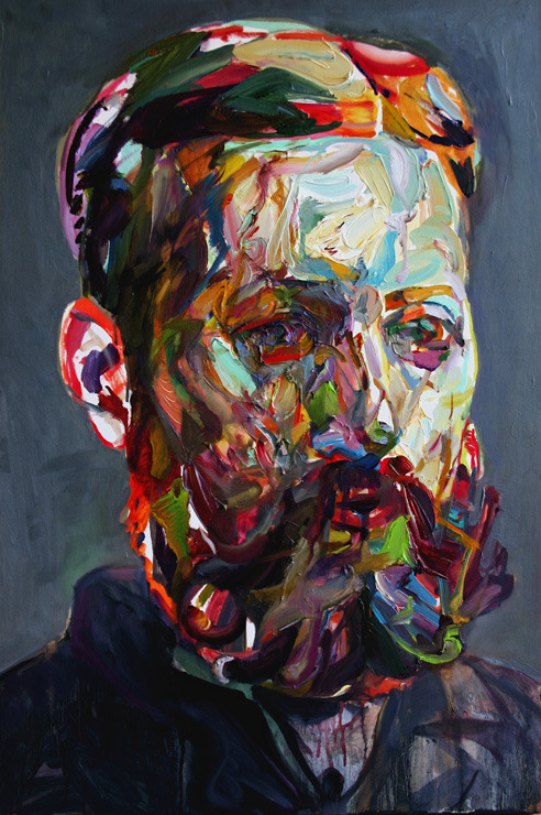 "mucksnipe:  Aaron Smith, ""Nobby,"" 2010, oil on panel, 30"" x 20"""