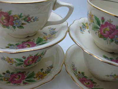 And of course Tea Cups! I love tea cups. I need more of these in my life :)