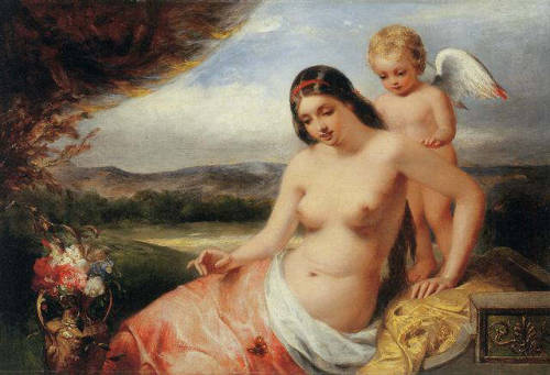 William Edward Frost - Venus and Cupid
