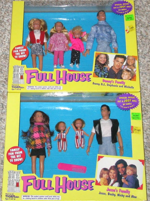 Full House dolls.  Did you have them?  I always wondered why poor Joey was never included in this… he was only sold separately by mail. lol