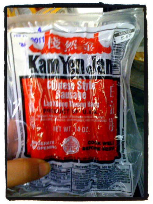 "I love the memories that come with Kam Yen Jan. I saw this on the shelves of my local Filipino store and immediately I thought of my cousin Matthew as a child, sitting at my aunt's dinner table, legs not touching the ground, asking for ""Rice and red sausage,please.""  I think of babysitting him on warm summer nights and watching cartoons and Home Alone over and over. I think of him crying when I had to leave that summer to start 8th grade. I think of the man he is now- silly, strong, wise. I think of what he will be sooner than we're ready - college grad, husband, father. Amazing the memories that come with msg laden pork sausage, amazing the trips that our foods take with us."