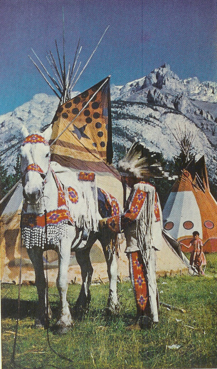 Nakoda rider at Cascade Mountain, 1960