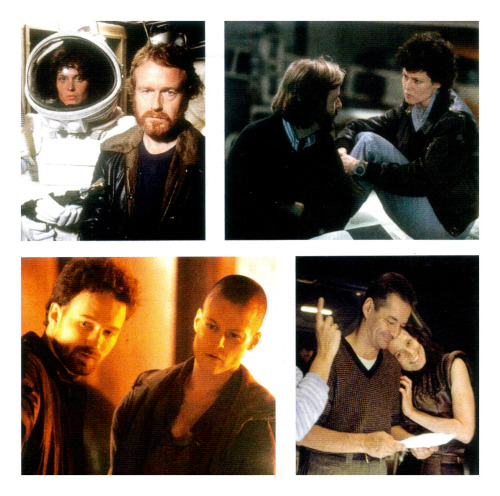 Sigourney Weaver with Alien movie directors Ridley Scott, James Cameron, David Fincher and  Jean-Pierre Jeunet. Taken from Empire Magazine (Bauer Consumer Media/2009).