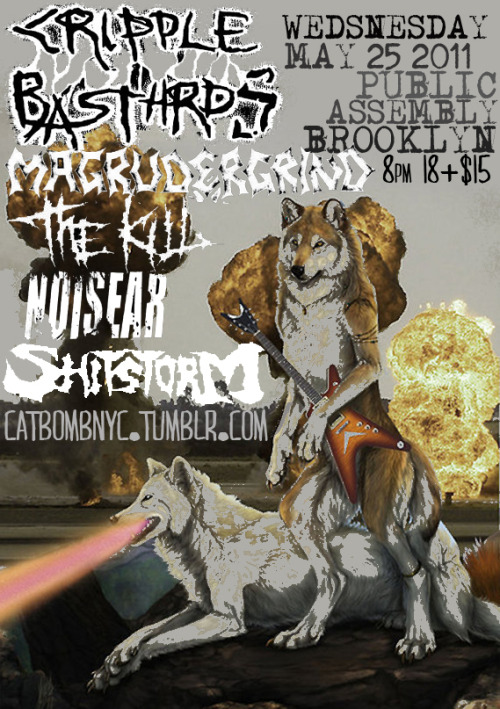 05/25/11 - Cripple Bastards, Magrudergrind, The Kill, Noisear @ Public Assembly