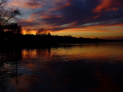 January 2010: Sunset on Lady Bird Lake (Austin, TX, USA).