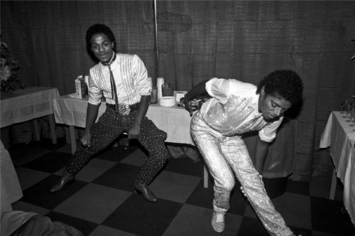 Michael Jackson and Marlon Jackson 1981