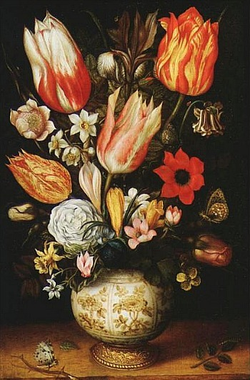 Christoffel van den Berghe Still Life with Flowers 17th century