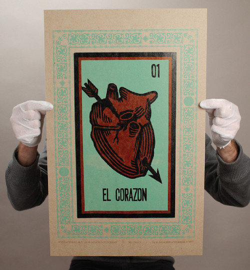 EL CORAZON • #silkscreen #Print #graphicdesign #design #layout #miseenpage #composition