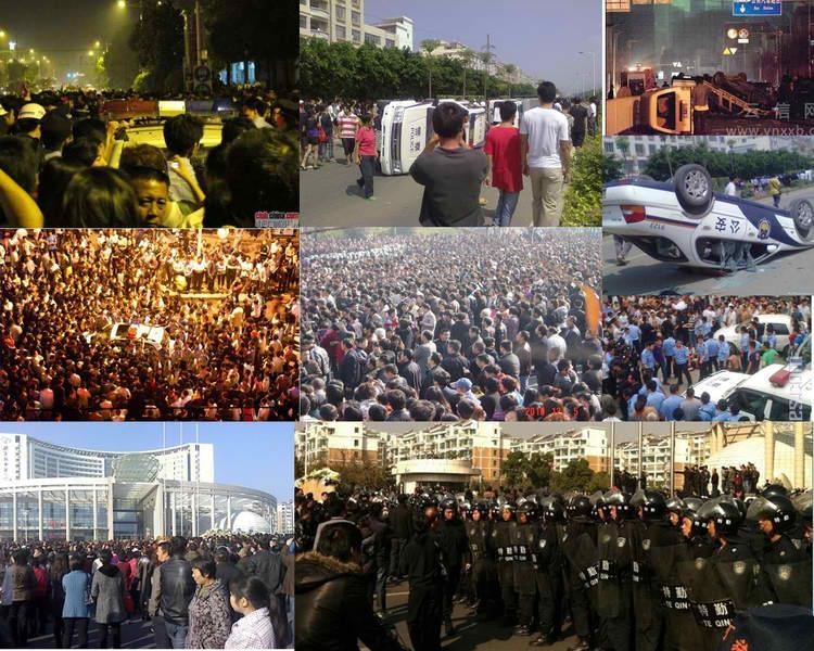 Top Ten China Mass Protests of 2010  Click on the picture