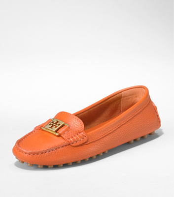 Tory Burch, Kendrick Driver. Orange always makes my heart beat faster.