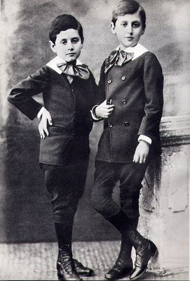 A young Marcel Proust (right) with his brother Robert, 1880(part of Proust's birthday)