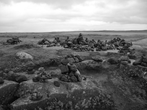 Rock formations (mainly by tourists) in Iceland