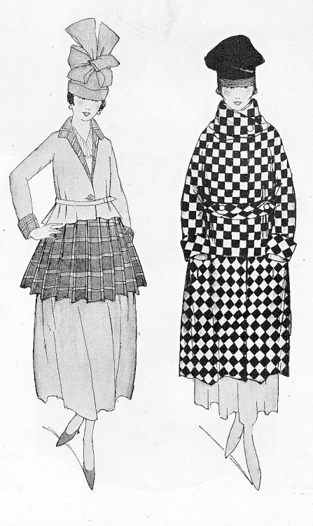 Winter fashions from the February 1917 edition of Vogue magazine.