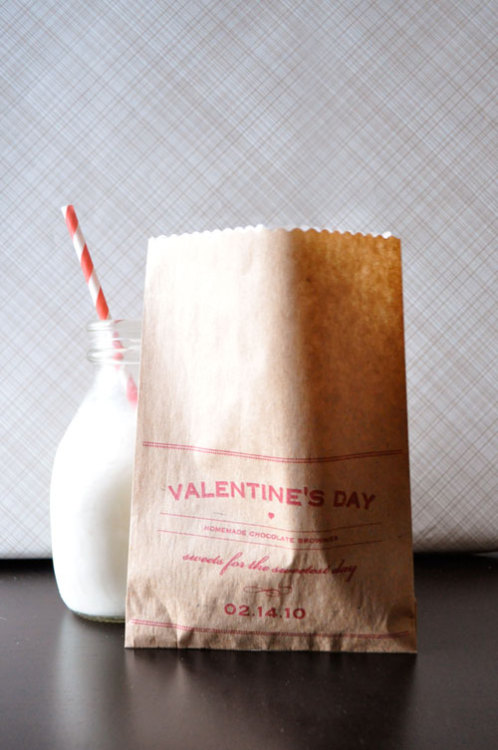 DIY Valentine's Day Brownie Bags