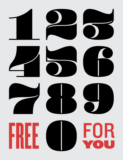 kaable:  Pompadour Numeral Set (Free Download) | Andy Mangold