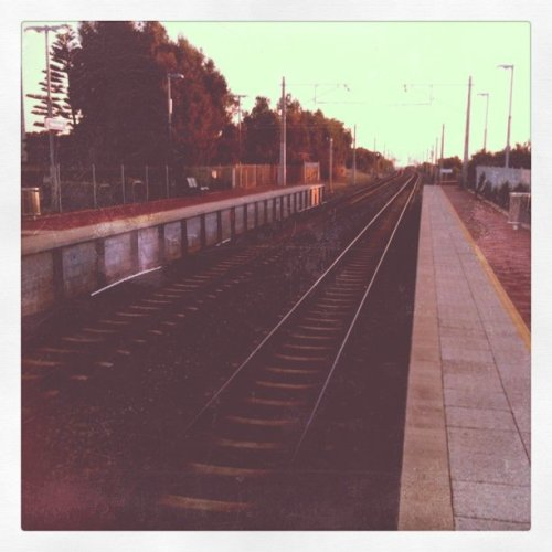 Heading into Perth… (Taken with Instagram at Mosman Park Train Station)