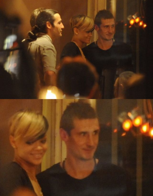 derpogorman:  Miroslav Klose and Rihanna in Berlin 2010