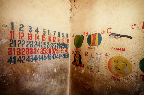 Hand painted school wall, Bolgatanga, Ghana