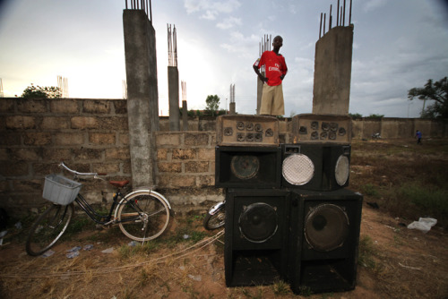Bolgatanga football tournament DJ seeks a better view