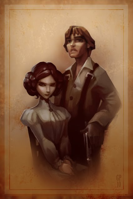 pigtailsandcombatboots:  Victorian Luke and Leia by Greg Peltz