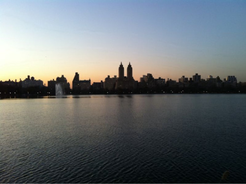 5:30PM run in Central Park. Totally awesome.