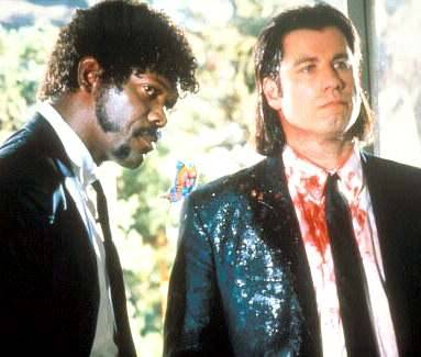 Vincent Vega & Jules Winnfield A Bromance built on…well, in true Tarantino fashion we don't get a very detailed backstory, but I guess you could say it's built on killing people for a living. But it's not their profession that makes their Bromance so awesome; it's the sheer level of mutual trust they've built over their time working together. Despite their differing opinions and views, as well as lifestyles, they work well together. Even their arguments over the divine are awesome and classy because nobody loses their cool; they just calmly state their views, expletive ridden or not, and move on. Vega is obviously distressed by Jules decision to leave the business, but at the same time he can respect that it's his choice. It is a bromance that will on in infamy and cliche college posters everywhere.
