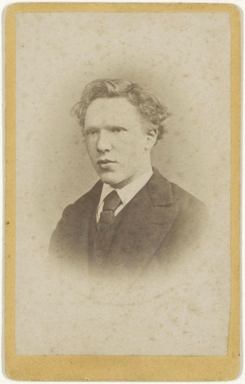 chagalov:  Vincent van Gogh aged 19, January 1873 -by J.M.W. de Louw (The Hague)  [+] Van Gogh Museum via MoN