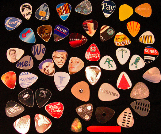 Music to my ears … Upcycling Credit Cards as Guitar Picks