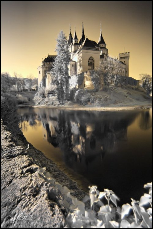 | ♕ |  Castle of Spirits in winter - Bojnice, Slovakia  | by gummaid