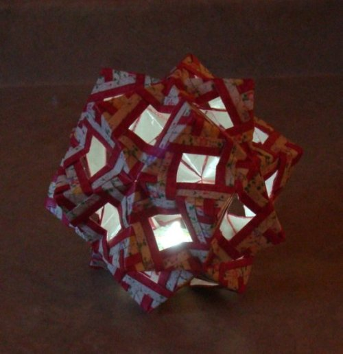 Origami Tea Light Lantern by Nahkande on Etsy