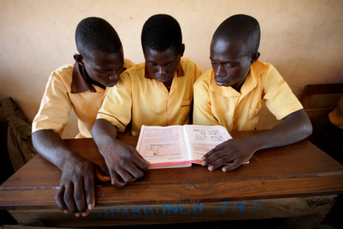 Books in demand, Sumbrungu Primary School, Bolgatanga, Ghana