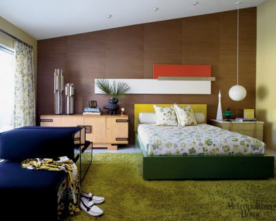 1960s Palm Springs mid-century modern bedroom, from Met Home (by xJavierx)
