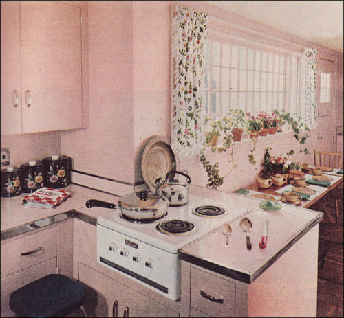 1951 Petal Pink Kitchen by Royal Barry Wills (by Rikki Nyman)