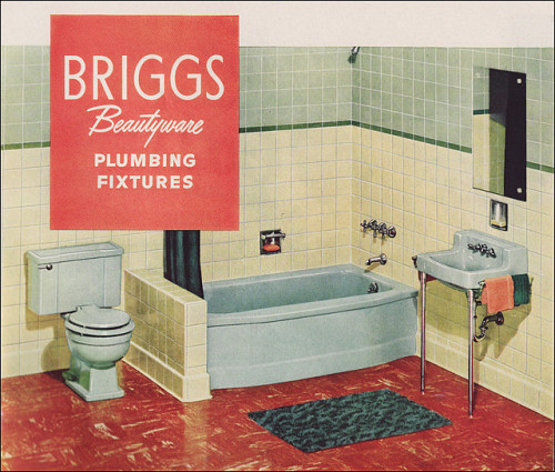 1951 Briggs Beautyware Bathroom (by Rikki Nyman)