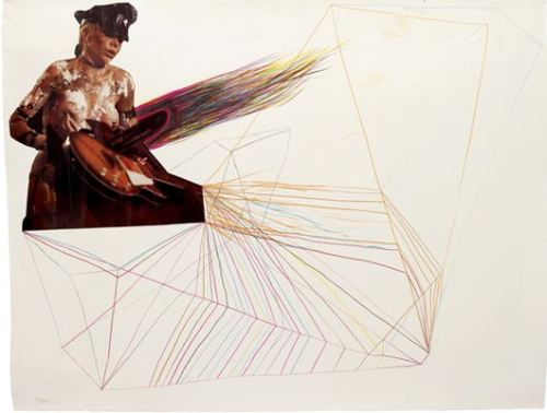 Sterling RubyUntitled, 2003Collage and coloured pencil on paper. 120 x 190 cm. (47 1/4 x 74 3/4 in)
