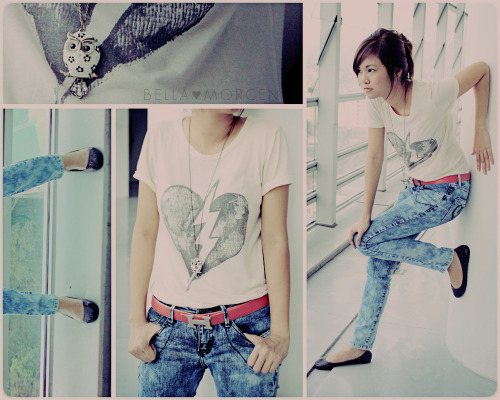 Broken 1. Top, Forever 21 2. Belt, Hermes 3. Owl Necklace, World Trade Center 4. Leopard Flats, Parisian 5. Pants, Mudd Like on Lookbook
