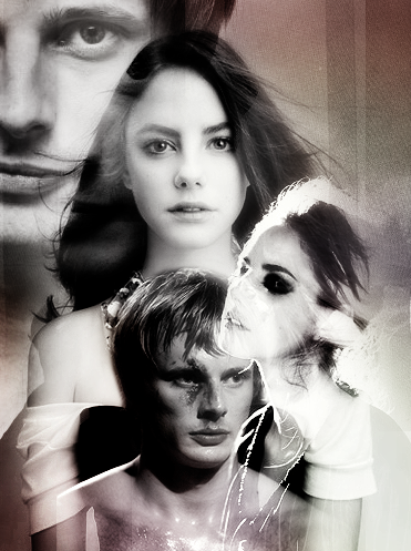 ifeelflames:<br><br>Annnd more Peeta/Katniss. I can't see anyone but Kaya Scodelario as Katniss, but still experimenting with who is my Peeta. Tried Alex Pettyfer &amp; Jamie Johnston on previous graphics now trying Bradley James!<br>