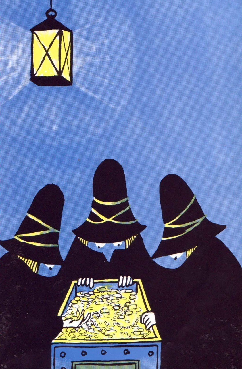 Tomi Ungerer, The Three Robbers ~ Atheneum, 1962. From theshipthatflew: via otherstuffmykidloves. This is such a cool illustration. Thanks to illumineight, who found a video version of this children's classic here.