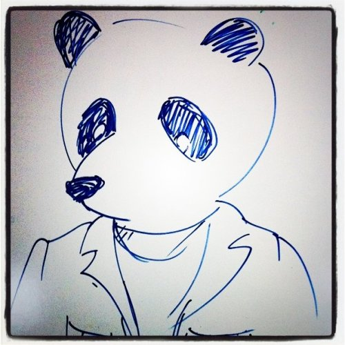 liz:  Back at work!  (Taken with Instagram at MRM New York)  panda jon :)